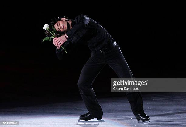 Stephane Lambiel of Switzerland performs during Festa on Ice 2009 at KINTEX on April 24 2009 in Goyang South Korea