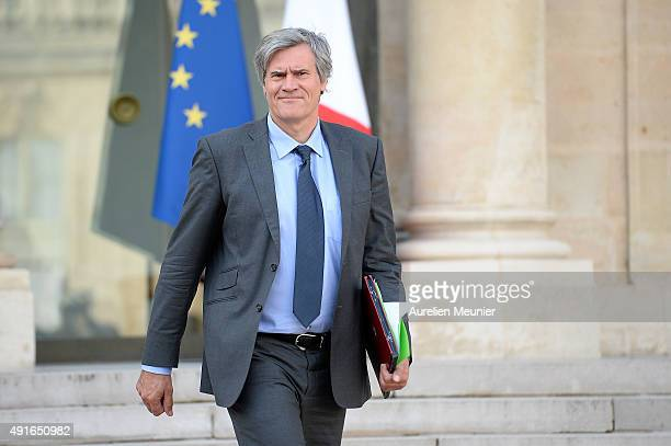 Stephane Le Foll French Minister Agriculture and Forestry Gouvernment Spokesman leaves the Elysee Palace after the weekly cabinet meeting on October...