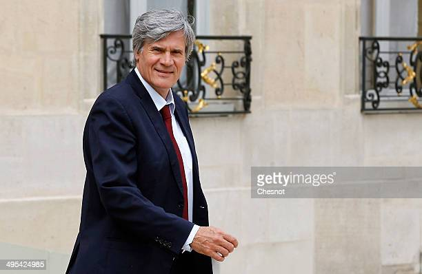 Stephane Le Foll Minister of Agriculture Food and Forestry Government Spokesman leaves after a cabinet meeting at the Elysee Palace on June 03 2014...