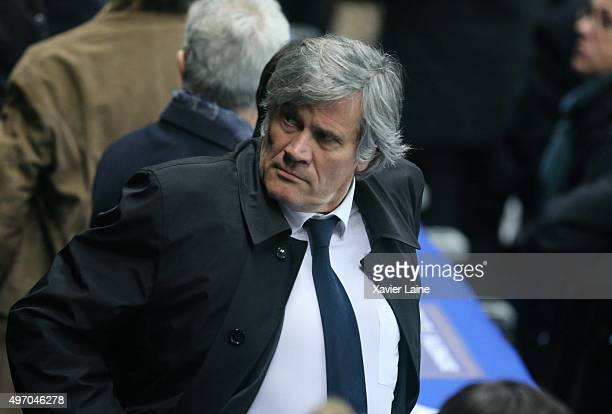 Stephane Le Foll reacts after the attack at the International Friendly game between France and Germany at Stade de France on november 13 2015 in...
