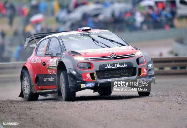 Stephane Lefebvre FRA Gabin Moreau FRA Citroen Total Abu Dhabi WRT during the WRC Orlen 74 Rally Poland on June 30 2017 in Mikolajki Poland