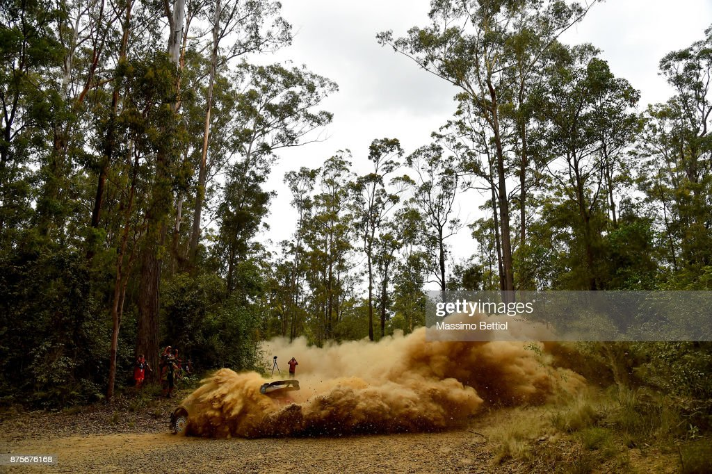 Stephane Lefebvre of France and Gabin Moreau of France compete in their Citroen Total Abu Dhabi WRT Citroen C3 WRC during Day Two of the WRC Australia in special stage number 10 Newry on November 18, 2017 in Coffs Harbour, Australia.