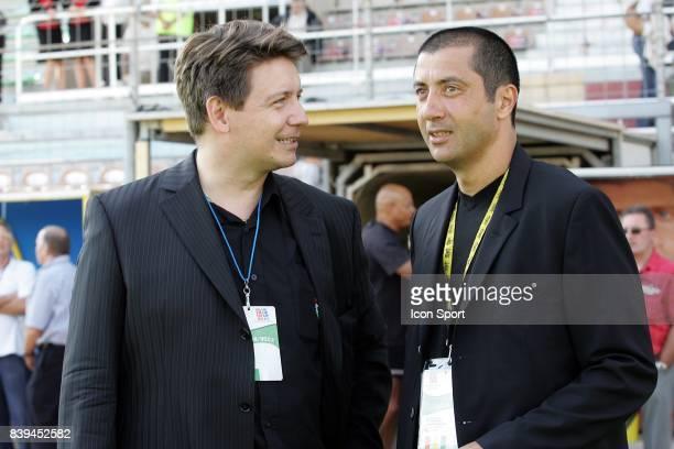 Stephane LELIEVRE et Mourad BOUDJELLAL - presidents - RC Toulon / Mont de Marsan - - 1ere journee de Pro D2 -