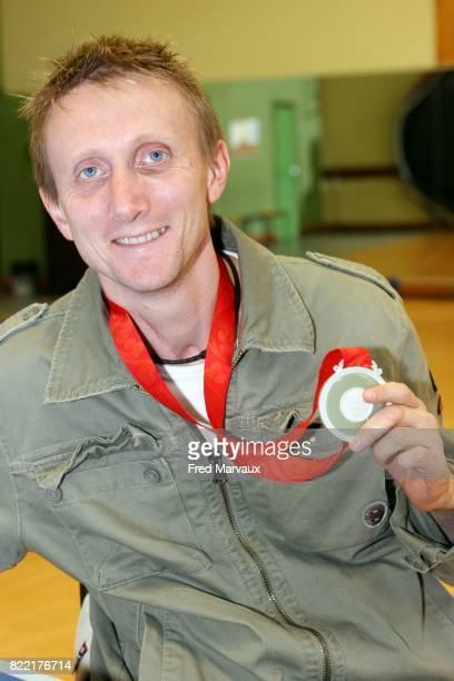 Stephane MOLLIENS medailles d'argent aux Jeux Paralympiques de Pekin 2008 Tennis de Table Pont a Mousson