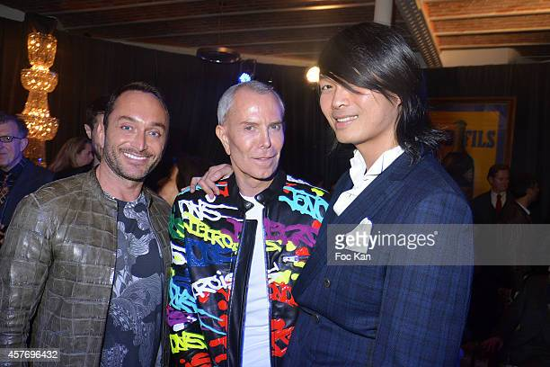Stephane Olivier Jean Claude Jitrois and Axel Huyhn attend the FIAC 2014 International Contemporary Art Fair Private Cocktail At the Henri Louis...