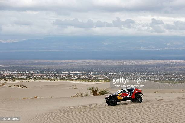 Stephane Peterhansel of France and Paul Jean Cottret of France in the PEUGEOT 2008 DKR for TEAM PEUGEOT TOTAL SOUTH AFRICA competes on day 11 stage...