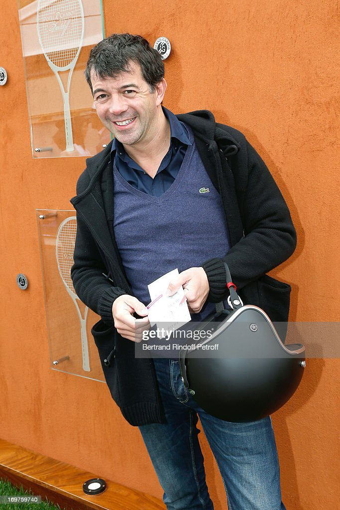 Stephane Plaza attends Roland Garros Tennis French Open 2013 - Day 7 on June 1, 2013 in Paris, France.