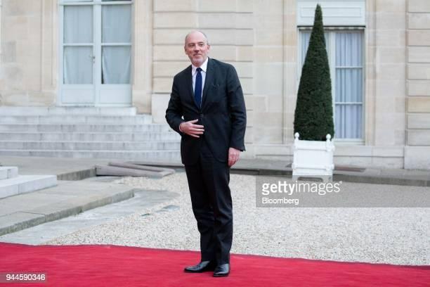 Stephane Richard chief executive officer of Orange SA arrives at the Elysee Palace ahead of a dinner with Mohammed bin Salman Saudi Arabia's crown...