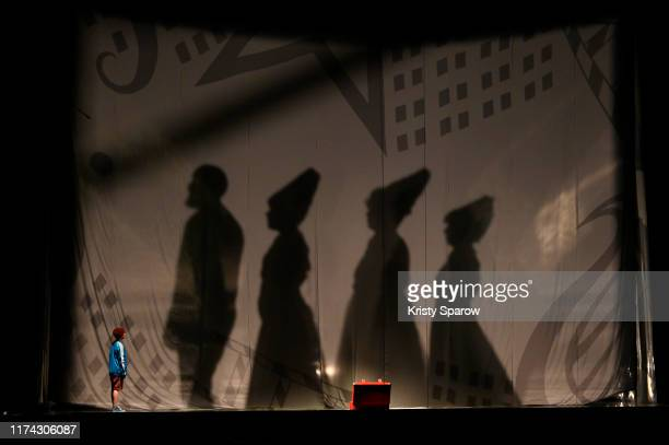 Stephane Ricordel's Boite Noire and STREB Extreme Action companies perform on stage at the reopening of the Theatre du Chatelet on September 12, 2019...