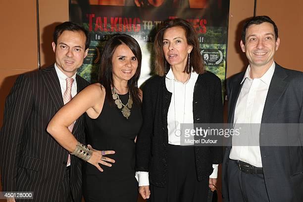 Stephane Riffier Meray Ilaria Borelli Carole Bouquet and Guido Freddi attend the 'Parle Avec Les Arbres' Paris Premiere on June 5 2014 in Paris France