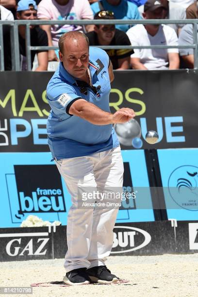 Stephane Robineau competes during the Masters of Petanque 2017 on July 13 2017 in RomanssurIsere France