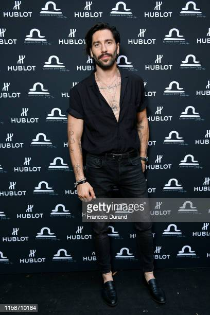 Stephane Rodrigues attends the launch of Hublot x Champion Spirit on June 27 2019 in Paris France