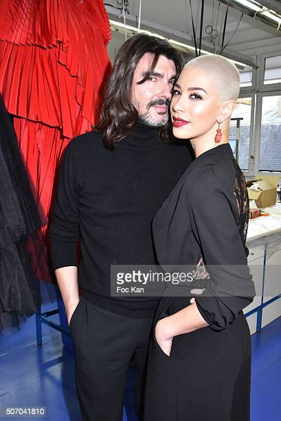 Stephane Rolland and Diese attend the Stephane Rolland Haute Couture Spring Summer 2016 show as part of Paris Fashion Week on January 26, 2016 in...