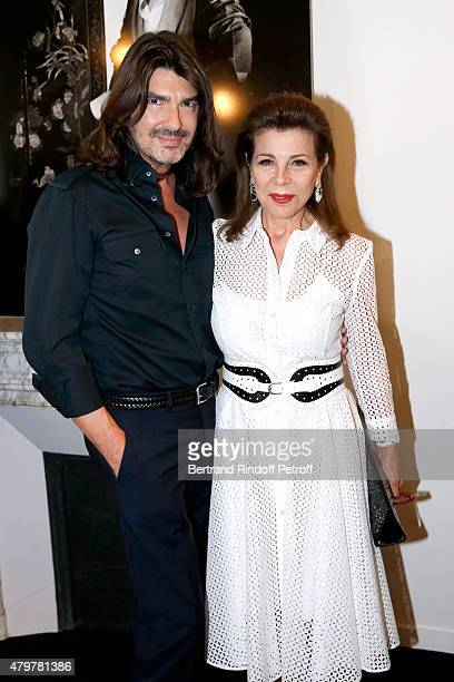 Stephane Rolland and Princess Firyal De Jordanie attends the Stephane Rolland show as part of Paris Fashion Week Haute Couture Fall/Winter 2015/2016...