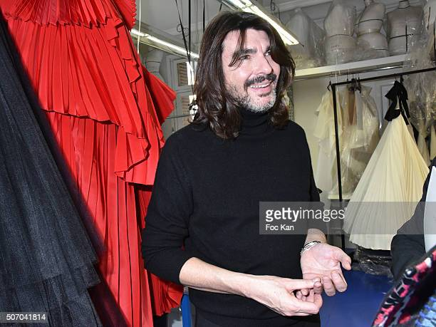 Stephane Rolland attends the Stephane Rolland Haute Couture Spring Summer 2016 show as part of Paris Fashion Week on January 26, 2016 in Paris,...