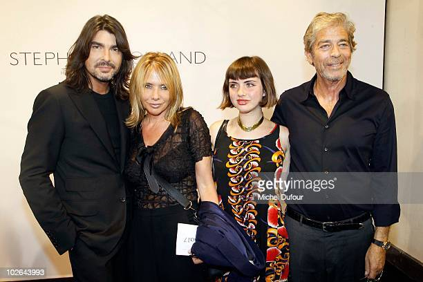 Stephane Rolland Rosanna Arquette Zoe Sidel and Morgan Todd attend the Stephane Rolland fashion show as part of Paris Fashion Week Fall Winter 2011...
