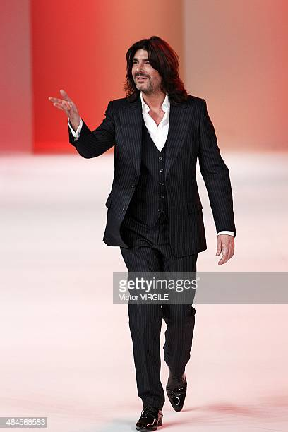 Stephane Rolland walks the runway during Stephane Rolland show as part of Paris Fashion Week Haute Couture Spring/Summer 2014 on January 21 2014 in...