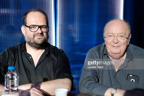 Stephane Rose and Bernard Mabille attend 'La Bataille du Rire' TV Show at Theatre de la Tour Eiffel on June 25 2018 in Paris France