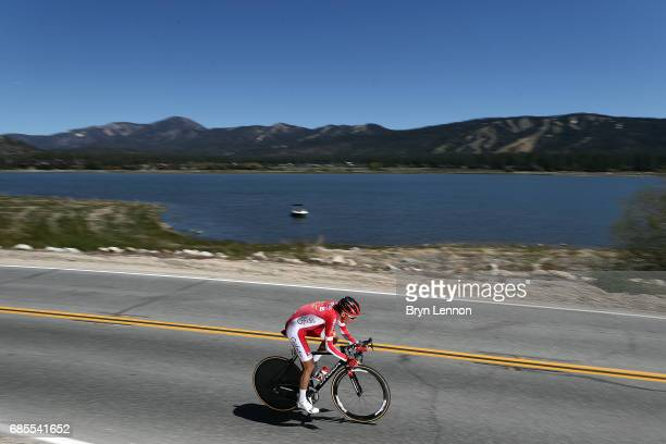 Stephane Rossetto of France and Cofidis in action during stage 6 of the AMGEN Tour of California, a 14.9 mile individual time trial around Big Bear...