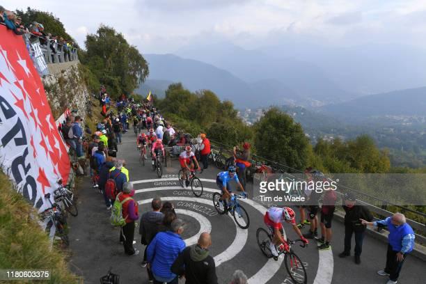 Stephane Rossetto of France and Team Cofidis Solutions Credits / Carlos Verona of Spain and Movistar Team / Muro di Sormano / Fans / Public / Peloton...