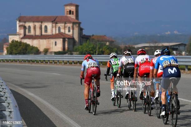 Stephane Rossetto of France and Team Cofidis Solutions Credits / Francesco Romano of Italy and Team Bardiani CSF / Enrico Battaglin of Italy and Team...