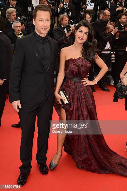 Stephane Rousseau and Reem Kherici attend the 'Jeune Jolie' premiere during The 66th Annual Cannes Film Festival at the Palais des Festivals on May...