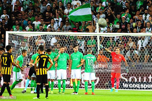 Stephane RUFFIER of Saint Etienne during the Third Qualifying Round Europa League between Saint Etienne and AEK Athnes at Stade GeoffroyGuichard on...