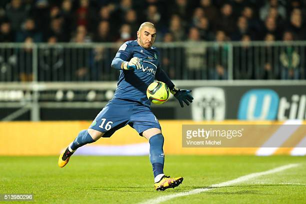 Stephane Ruffier of SaintEtienne during the French Ligue 1 match between Angers SCO v AS SaintEtienne at Stade JeanBouin on March 5 2016 in Angers...