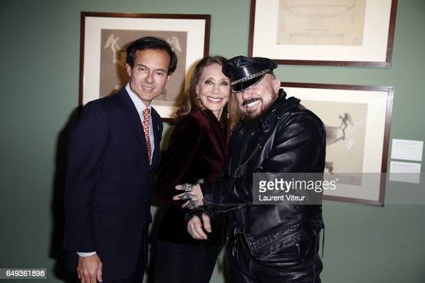 Stephane RuffierMeray Marisa Berenson and Peter Marino attend 'Dessiner L'Or et L'Argent Odiot Orfevre' Exhibition Launch at Musee Des Arts...