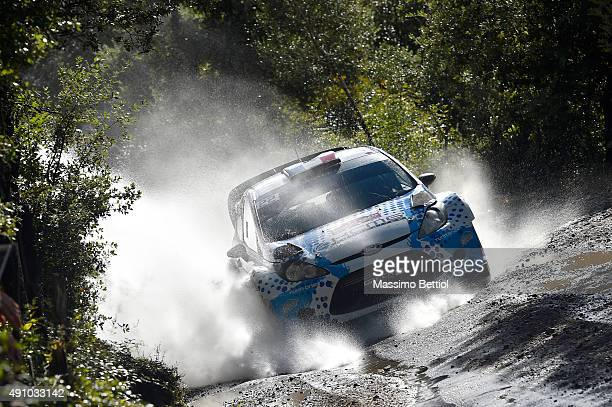 Stephane Sarrazin of France and J Renucci of France compete in their Ford Fiesta RS WRC during Day One of the WRC France on October 2 2015 in Ajaccio...