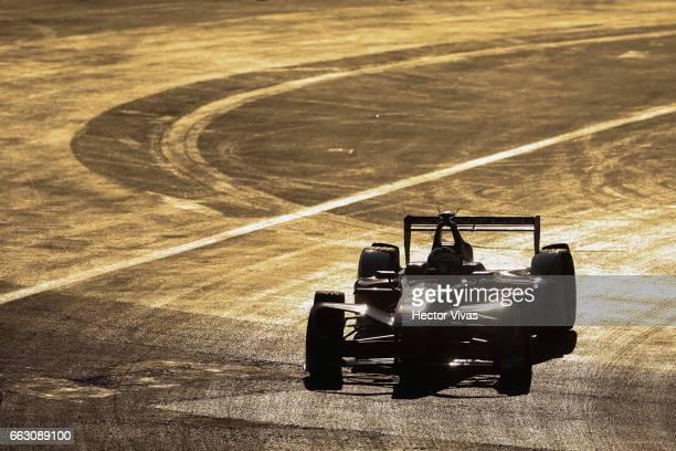 Stephane Sarrazin of France and Venturi Formula E Team competes in practice 1 during the 2017 FIA Formula E Mexico City ePrix at Hermanos Rodriguez...
