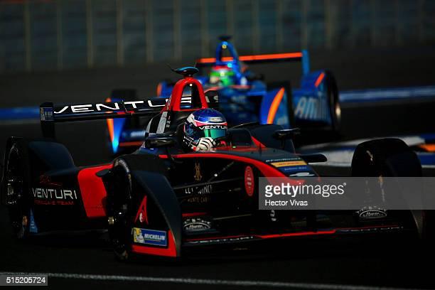 Stephane Sarrazin of France and Venturi Formula E Team during the Mexico City Formula E Championship 2016 at Autodromo Hermanos Rodriguez on March12,...