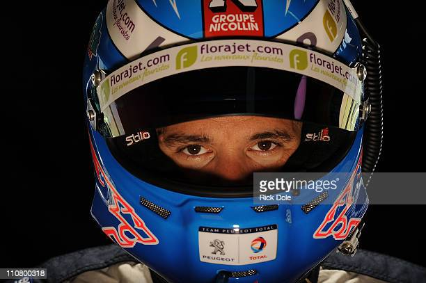 Stephane Sarrazin of France, driver of the Peugeot Sport Total Peugeot 908, during the Intercontinental Le Mans Cup 12 Hours of Sebring, at Sebring...