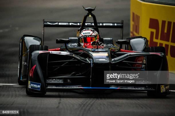 October 09: Stephane Sarrazin of Venturi Formula E team during the first race of the FIA Formula E Championship 2016-17 season HKT Hong Kong ePrix at...