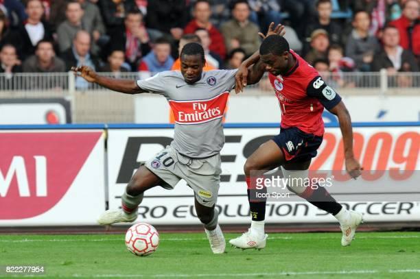 Stephane SESSEGNON / Aurelien CHEDJOU Lille / PSG 31 eme journee de Ligue 1 Stadium Nord Lille Villeneuve d'Ascq