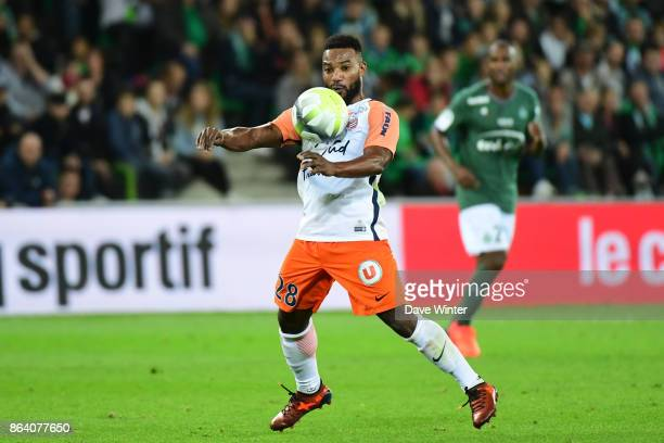 Stephane Sessegnon of Montpellier during the Ligue 1 match between AS SaintEtienne and Montpellier Herault SC at Stade GeoffroyGuichard on October 20...