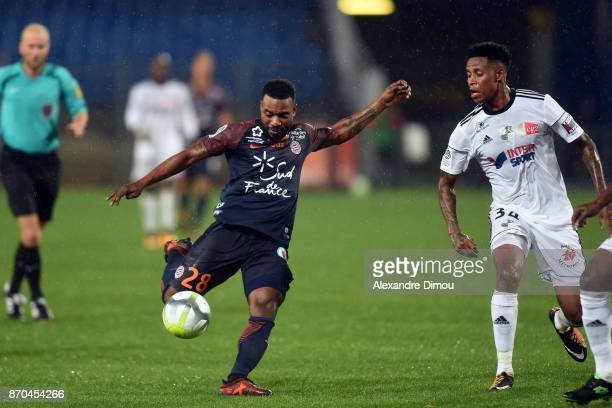 Stephane Sessegnon of Montpellier during the Ligue 1 match between Montpellier Herault SC and Amiens SC at Stade de la Mosson on November 4 2017 in...
