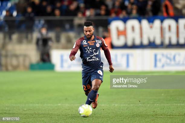 Stephane Sessegnon of Montpellier during the Ligue 1 match between Montpellier Herault SC and Lille OSC at Stade de la Mosson on November 25 2017 in...