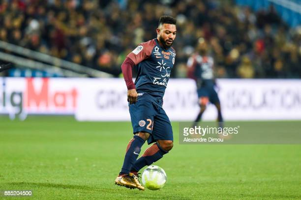 Stephane Sessegnon of Montpellier during the Ligue 1 match between Montpellier Herault SC and Olympique Marseille at Stade de la Mosson on December 3...