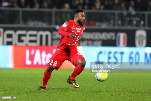 Stephane Sessegnon of Montpellier during the Ligue 1 match between Angers SCO and Montpellier Herault SC at Stade Raymond Kopa on December 9 2017 in...