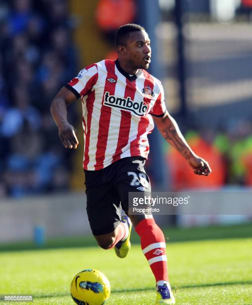 Stephane Sessegnon of Sunderland in action during the Barclays Premier League match between West Bromwich Albion and Sunderland at The Hawthorns on...