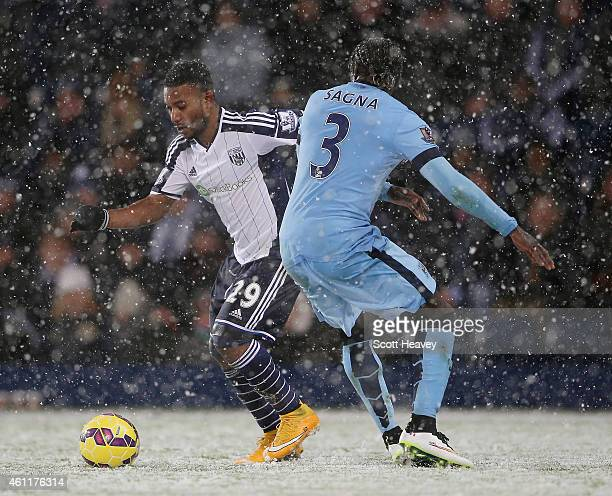 Stephane Sessegnon of WBA during the Barclays Premier League match between West Bromwich Albion and Manchester City at The Hawthorns on December 26...