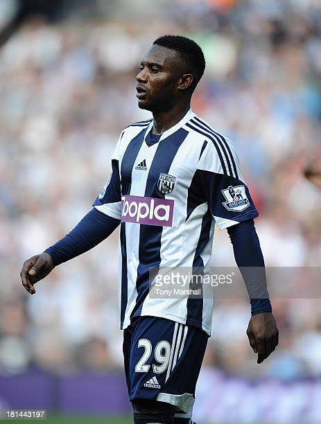 Stephane Sessegnon of West Bromwich Albion during the Barclays Premier League match between West Bromwich Albion and Sunderland at The Hawthorns on...