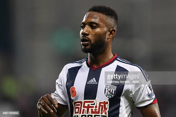 Stephane Sessegnon of West Bromwich Albion during the Barclays Premier League match between West Bromwich Albion and Leicester City at The Hawthorns...