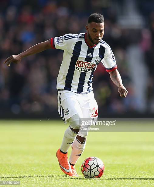 Stephane Sessegnon of West Bromwich Albion during the Barclays Premier League match between West Bromwich Albion and Watford at The Hawthorns on...