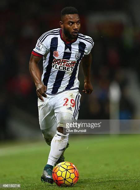 Stephane Sessegnon of West Bromwich Albion in action during the Barclays Premier League match between Manchester United and West Bromwich Albion at...