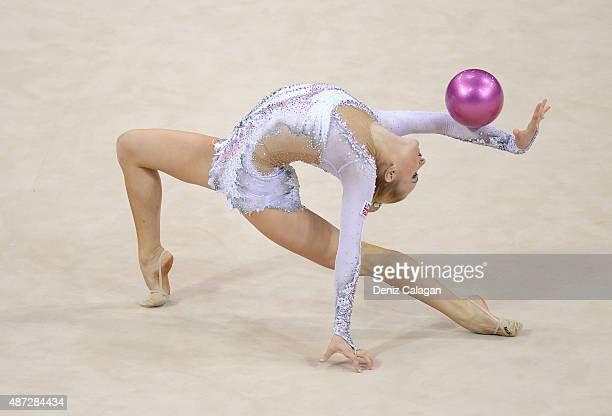 Stephani Sherlock of Great Britain competes during the 34th Rhythmic Gymnastics World Championships on September 8 2015 in Stuttgart Germany