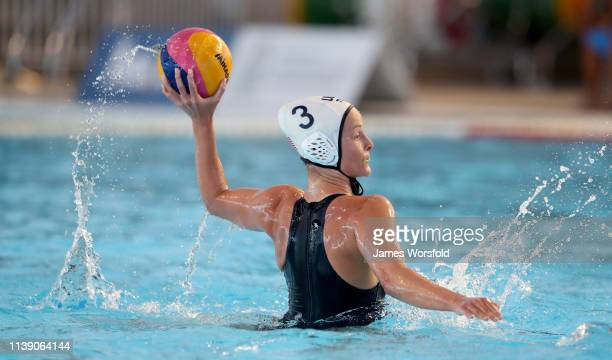 Stephania Haralabidis of the United States of America looks to shoot the ball during the 2019 FINA World League InterContinental Cup Woman's match...