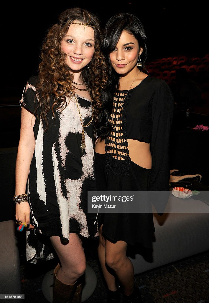 Stephania Owen and Vanessa Hudgens attend the world premiere of 'The Carrie Diaries' at the New York Television Festival at SVA Theater on October 22, 2012 in New York City.