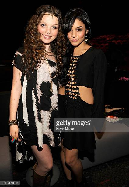Stephania Owen and Vanessa Hudgens attend the world premiere of The Carrie Diaries at the New York Television Festival at SVA Theater on October 22...